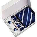 Corbata / Pañuelo / Alfiler de Corbata / Gemelos ( Azul Marino , Poliéster )- Diseño