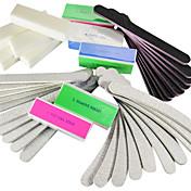 40pcs 5 Tipos Nail Arquivos & tampão Arte Blocos (4 cores) Manicure Set para Acrílico