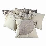 Algodón / Lino Cobertor de Cojín / Cojín con Relleno , FloralCasual / Tradicional/Clásico / Al Aire Libre / Antiguo / Retro / Detalle