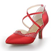 Zapatos de baile (Negro/Marrón/Rojo/Plata) - Moderno - No Personalizable - Tacón Cubano