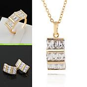 delfín de la moda de diseño 18k oro anillo chapado / collar / los pendientes de la joyería de la mujer