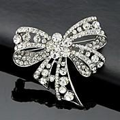 Feminino Broches Moda Estilo bonito bijuterias Cristal Formato de Laço Jóias Para Casamento Festa Ocasião Especial Aniversário Diário