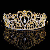 Mujer Niña de flor Diamantes Sintéticos Aleación Celada-Boda Ocasión especial Tiaras 1 Pieza