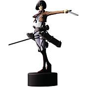 アニメのアクションフィギュア に触発さ 進撃の巨人 Mikasa Ackermann ポリ塩化ビニル 14 cm モデルのおもちゃ 人形玩具