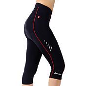 TASDAN Mallas de Ciclismo ¾ Mujer Bicicleta 3/4 Medias/Corsario Shorts/Malla corta Pantalones Cortos AcolchadosTranspirable Secado rápido