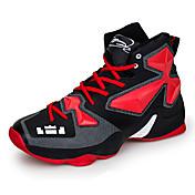Hombre-Tacón Plano-Confort-Zapatillas de Atletismo-Exterior Informal Deporte-Cuero Tela-Azul Amarillo Negro Plata Negro y Rojo
