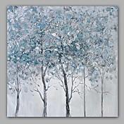 Pintada a mano Abstracto / Floral/Botánico Pinturas de óleo,Modern / Clásico Un Panel Lienzos Pintura al óleo pintada a colgar For
