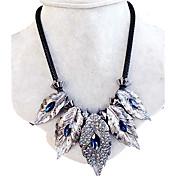 Mujer Collares con colgantes Collar Cristal Forma de Hoja Gema Diseño Único Moda Joyas Para Boda Fiesta Diario