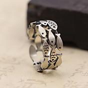指輪 ストーン無し 日常 カジュアル ジュエリー 純銀製 女性 男性 指輪 1個,ワンサイズ シルバー