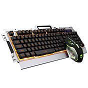 kabelové s LED podsvícením osvětlené multimediálních ergonomický USB herní klávesnice Gamer 3200dpi 6 tlačítek optická herní myš
