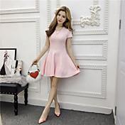 primavera posibilidades reales de la versión coreana de las nuevas mujeres&# 39; s vestido de la manera delgado cuello redondo delgado