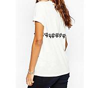 Mujer Activo Uso Diario De Compras Dulces 16 Escuela Cita Calle Verano Camiseta,Escote Redondo Sexy Moda Manga Corta N/A Medio