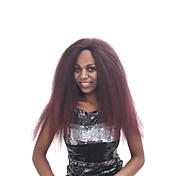 Mujer Pelucas sintéticas Encaje Frontal Largo Rizado rizado Marrón Rojo Negro Entradas Naturales Peluca natural Peluca de Halloween