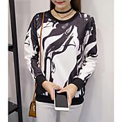 Mujer Tallas Grandes Sudadera Casual Casual Bloques Color Mixto Escote Redondo Capucha Extraíble strenchy Algodón Manga Larga Primavera