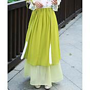 Mujer Casual/Diario Midi Faldas,Columpio Verano Bloque de Color