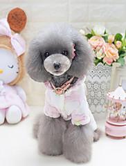 犬 パーカー 犬用ウェア カジュアル/普段着 カートゥーン柄 ブルー ピンク