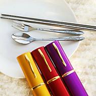 Outils de cuisine(Rouge / Lilas / Or)Thème asiatique Acier inox