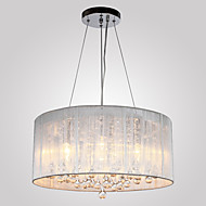 Privjesak Svjetla ,  Modern/Comtemporary Bubanj Electroplated svojstvo for Crystal Metal Living Room Bedroom