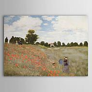 Pintados à mão Famoso / Paisagem 1 Painel Tela Pintura a Óleo For Decoração para casa