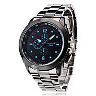 Pánské Náramkové hodinky Křemenný Slitina Kapela Stříbro Bílá Černá