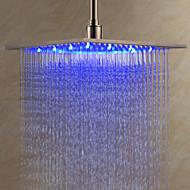 Suihkupää, 12 tuumaa, väriä vaihtava LED suihku, ruostumaton teräs