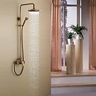 Starožitný Sprchový systém Dešťová sprcha Včetne sprchové hlavice with  Keramický ventil Se třemi otvory Single Handle tři otvory for