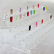72 tips Nail Art Tips Viser Stand ABS plast Transparent (31x12x11cm)