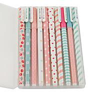 decoratief patroon kleurrijke gel pen set (10 stuks)