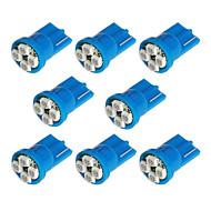 8x T10 194 168 501 4-SMD 3528 LED Auto Světlo Žárovka modrá