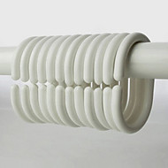 Shower Curtain Hooks, Forma High Class Modern Branca Oval (12 pack)