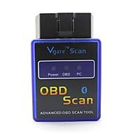 ELM327C Super Mini Sem Fio V1.5 OBD-II Ferramenta Para Escanear e Diagnosticar Carro - Azul + Preto (12V)