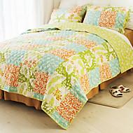 huani® peitto sarja, 3-osainen 100% puuvillaa maan tyyliin ruudullinen kuvio värikäs kevät