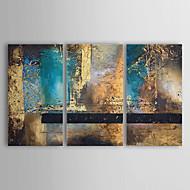 Ручная роспись Абстракция Горизонтальная 3 панели Холст Hang-роспись маслом For Украшение дома