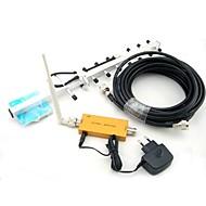 Mini W-CDMA 2100MHz mobiele telefoon 3G Signal Booster, W-CDMA 3G signaalversterker + Omni Antenna + Yagi antenne met 10m Kabel