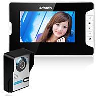 7 polegadas video porteiro telefone campainha intercom kit 1 câmera 1 monitor visão noturna
