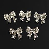 10kpl bling charmia bowknot täynnä selkeä strassit 3d metalliseos kynsikoristeet koriste
