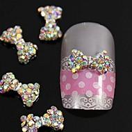 10kpl kristalli ab strassit helmiä rusetti 3d metalliseos kynsikoristeet koriste