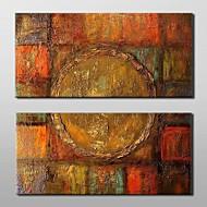 Pintados à mão Abstrato Horizontal,Clássico Tradicional 2 Painéis Tela Pintura a Óleo For Decoração para casa
