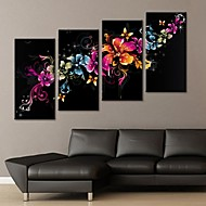 Canvastaulu art upea kukka koristelu sarja 4
