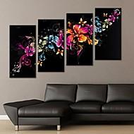 Stretched Canvas Art Gorgeous Flower Decoration Set of 4