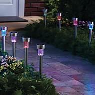balení 8 Barva Změna solární vedl dobíjecí z nerezové oceli zahradní trávník světla