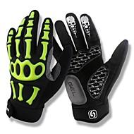 SPAKCT Fashion Designed Breathable Nylon fastener tape Full-Finger Gloves-Skeleton