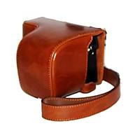 מצלמת תיק תיק עור שמן עור dengpin® pu לכסות עם רצועת כתף עבור ilce-6000l A6000 SONY a6000l NEX-6