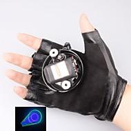 lt-405-532 handschoen groene en paarse laser pointer (1 mW, 532nm, 1xlithium batterij, zwart)