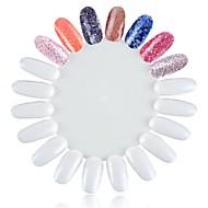 1 stk falske hvite spiker tips Neglekunst tips for Neglekunst praksis neglelakk dispay spiker farge praksis