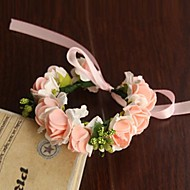 Wedding Flowers Round Roses Wrist Corsages Wedding Party/ Evening Satin Paper