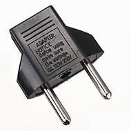 Carregadores Interruptor Conversor de Ficha US para EU Recarregável Tamanho Compacto Plástico para