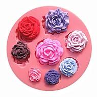 osm různých velikostí vzor růže květ čokoládový dort plísně