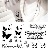 1 Tatouages Autocollants Séries animales Non Toxique Bas du Dos ImperméableBébé Enfant Homme Femme Adulte Adolescent Tatouage Temporaire