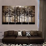 e-Home® venytetty kankaalle art yön varjot puiden sisustusmaalaus sarja 5